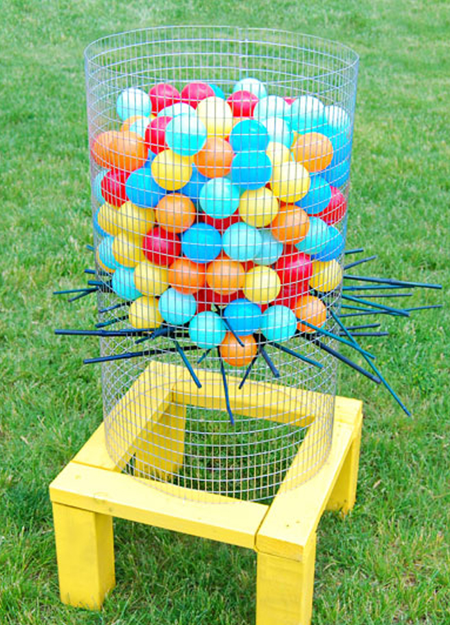 basket filled with balloons