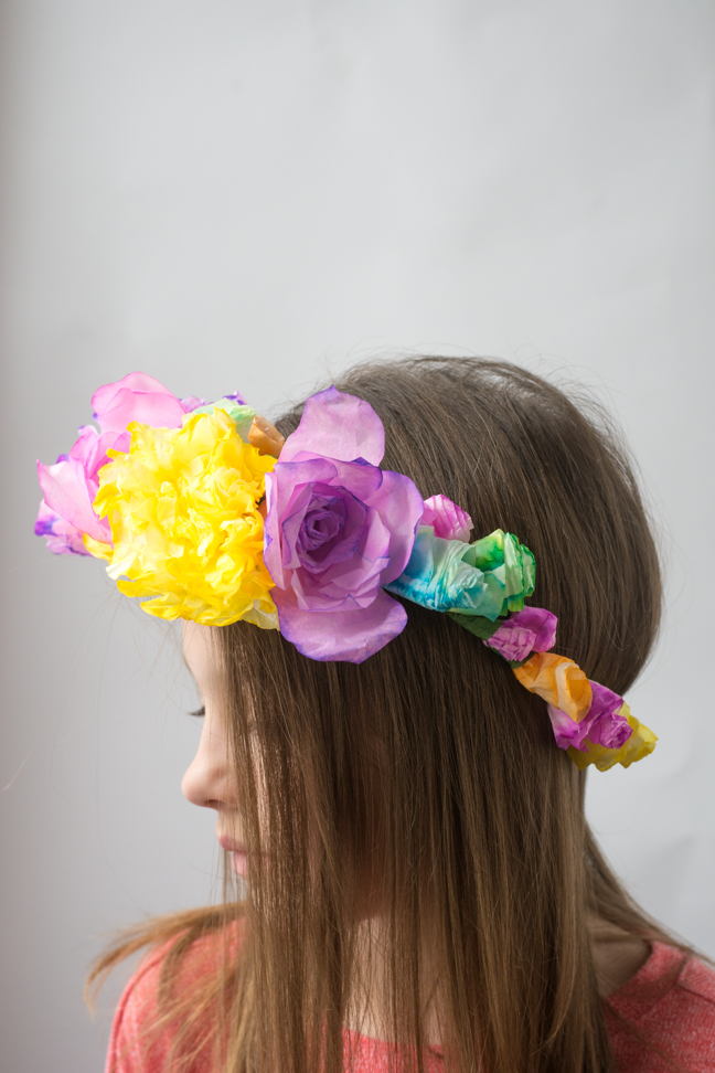 How to make coffee filter flower crowns paper flower crown mightylinksfo