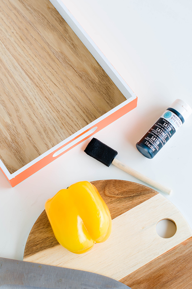 wood tray stain