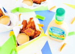 (Free Template) DIY Chicken Wing & Ranch Party Boxes