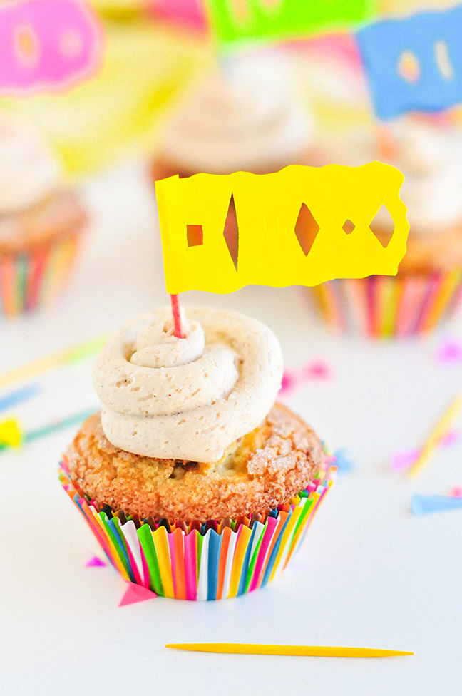 churro cupcake papel picado flag
