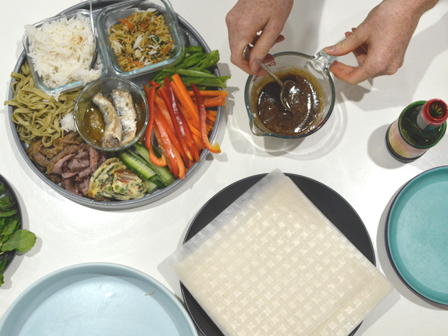 Recipe for how to make rice paper rolls quickly