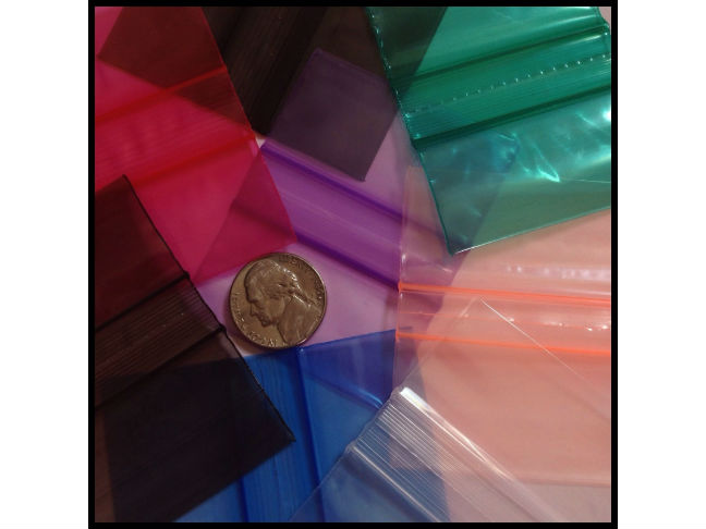 colorful ziplock bags nickel