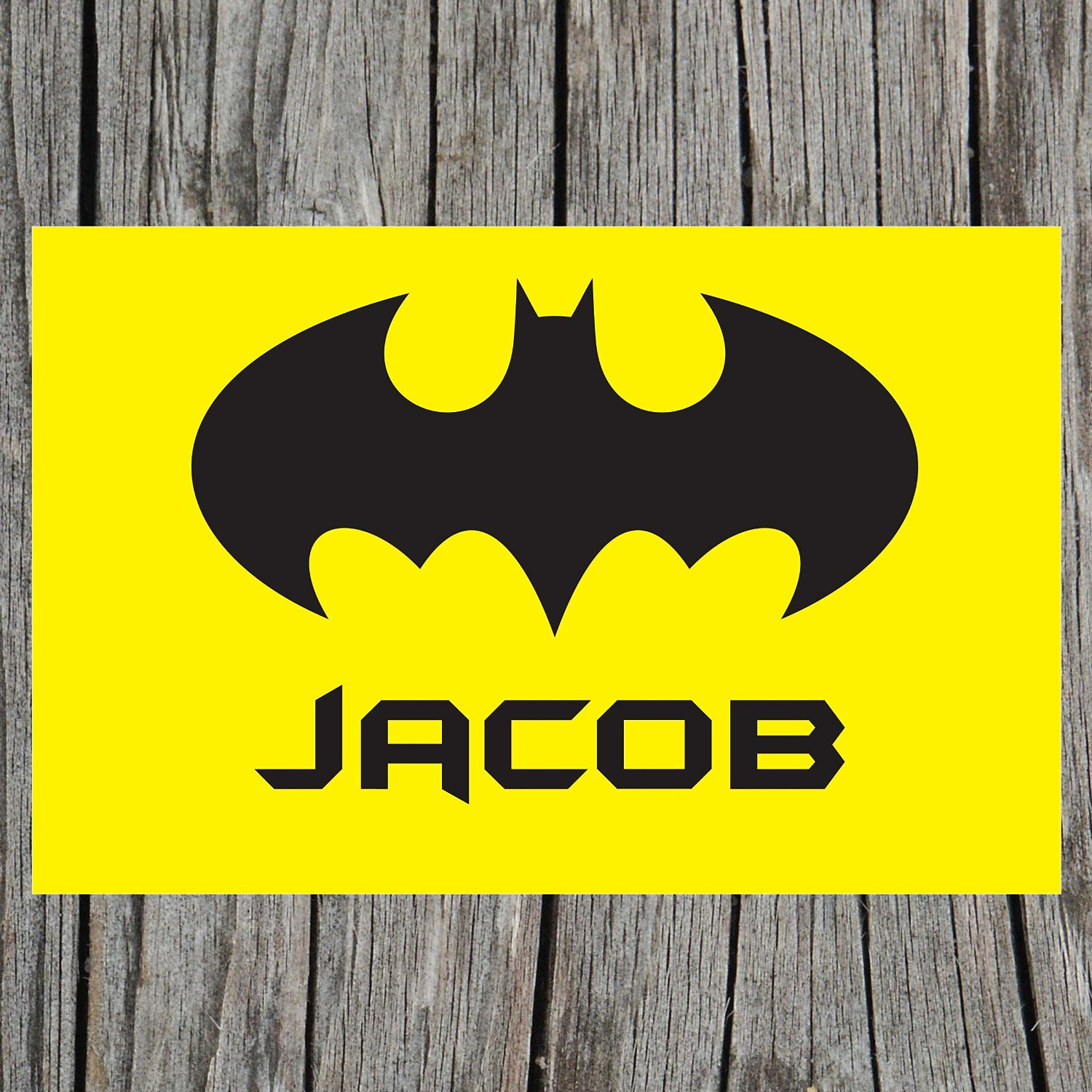 personalized batman placemat