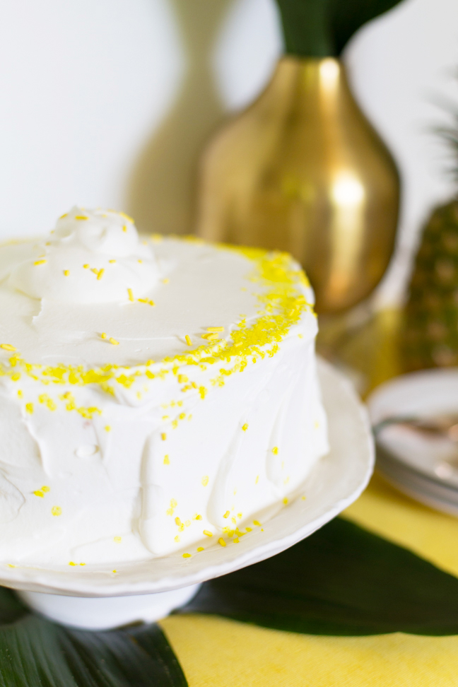 pineapple ice cream cake with sprinkles