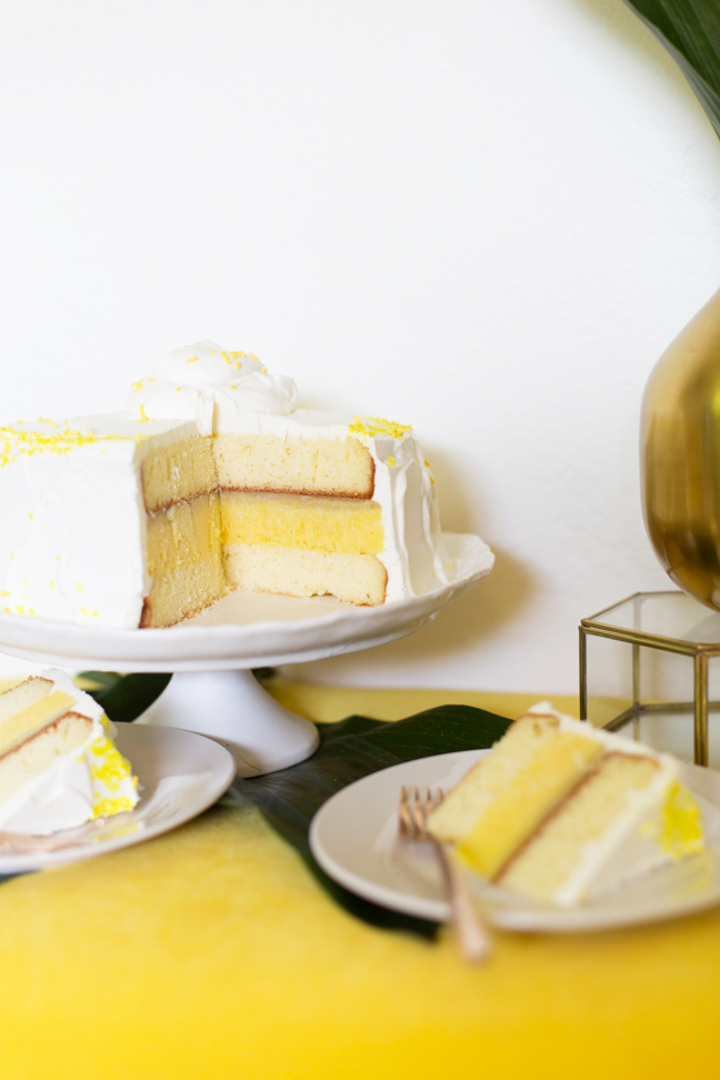 sliced pineapple ice cream cake