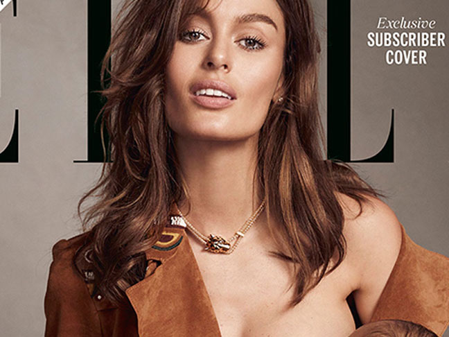 Nicole Trunfio Breastfeeding On The Cover Of Elle Mag Is