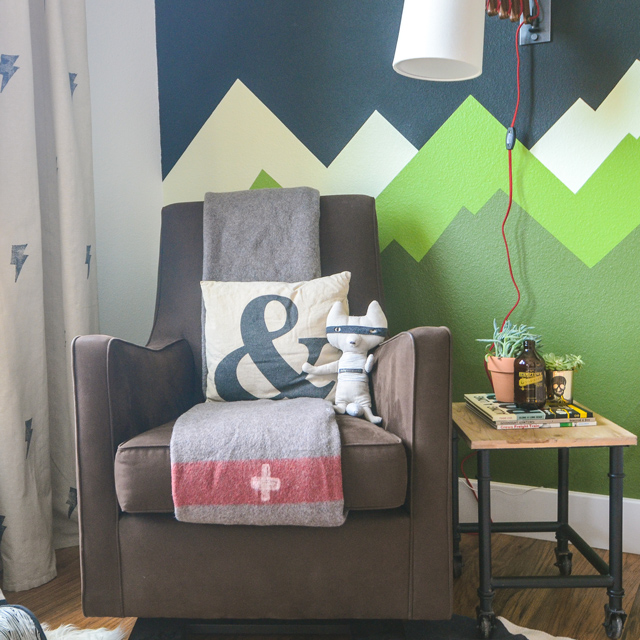 graphic mountain wall art nursery