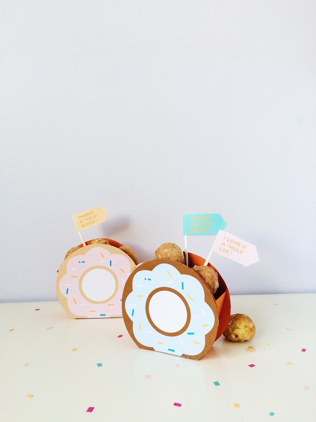 DIY Donut Hole Favor Box | Shauna Younge
