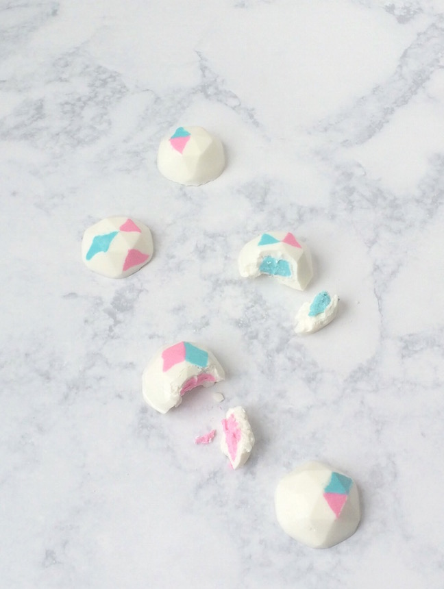 DIY Geometric Gender Reveal Truffles | Shauna Younge