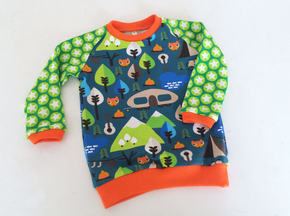 boys camping shirt colourful and fun