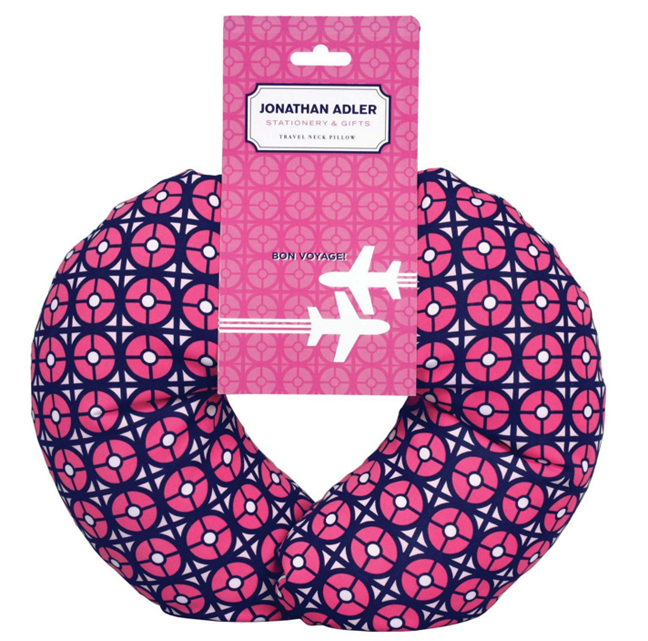 Jonathan Adler patterned travel neck pillow