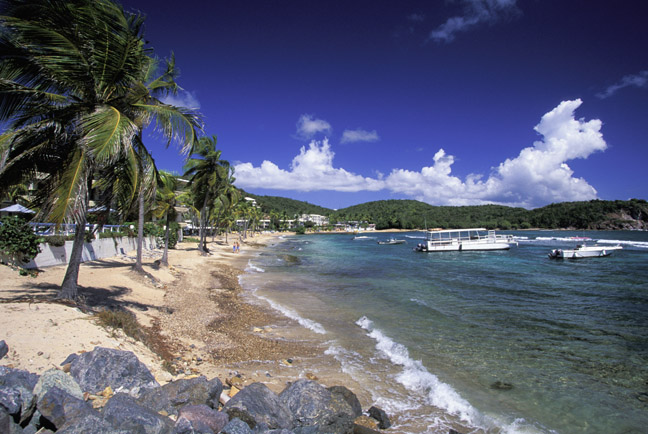 Saint Thomas is an island in the Caribbean Sea and a constituent district of the United States Virgin Islands. Christopher Columbus sighted the island in 1493 on his second voyage to the New World. For long time the island was a center of sugar trade.