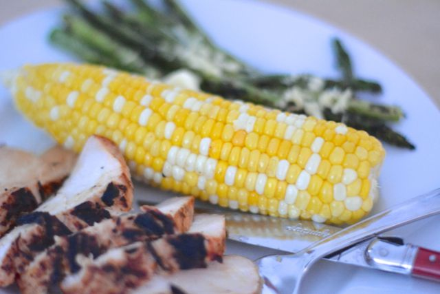 Perfectly roasted corn on the cob