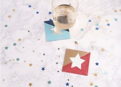DIY Color Block Mirrored Star Coasters