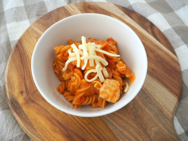 One Pot Speedy Chicken and Tomato Pasta