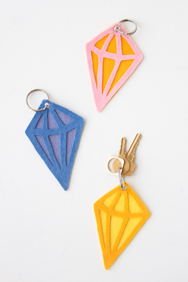 DIY Geometric Keychains and Bag Tags