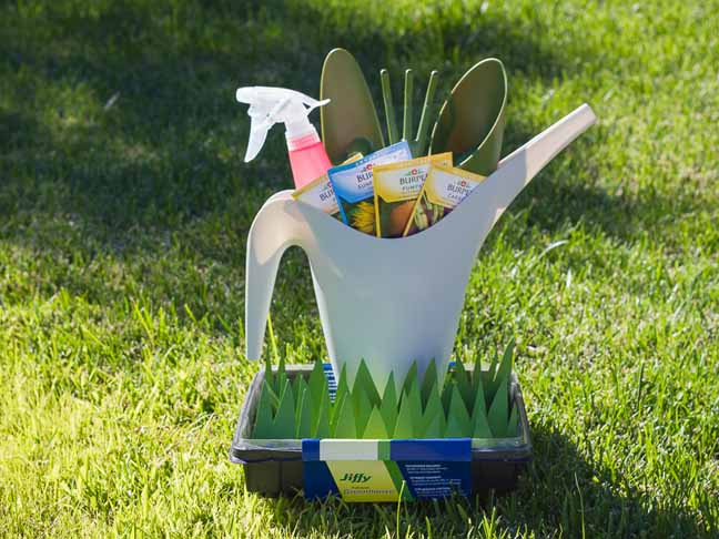 diy gardening kit with tools and seeds