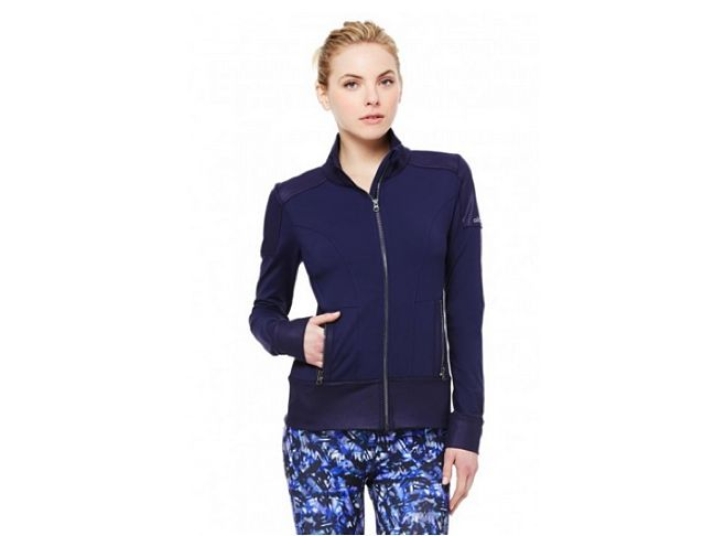 alo yoga navy blue jacket