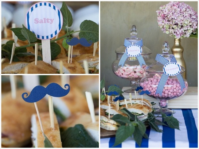 gender-reveal-baby-shower-salty-sandwiches-pink-candy-crunchy-food-mustache-salty