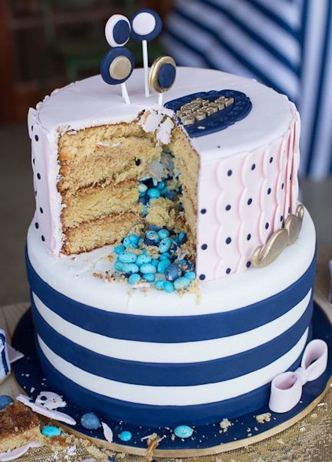 gender-reveal-baby-shower-pink-blue-cake
