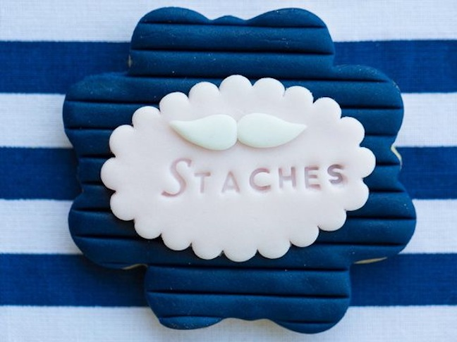 custom-cookie-staches-lashes-baby-shower-gender-reveal-dessert-gold-pink-blue