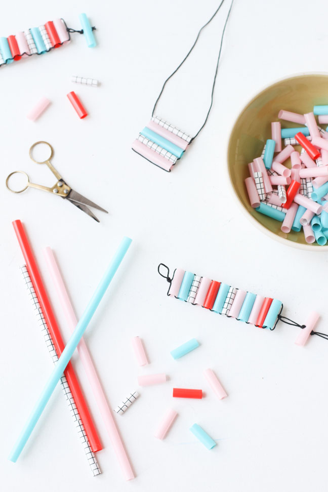 After School Kids Craft Idea: DIY Straw Bead Bracelets