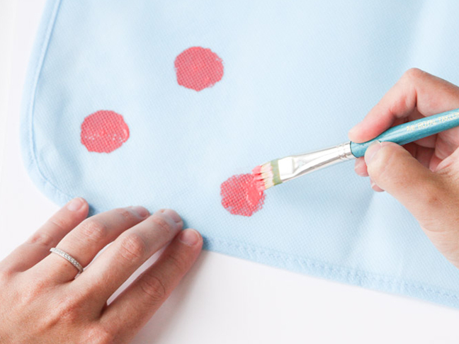 Touch up with paint brush