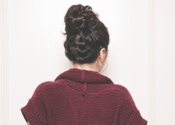 5 Minute Braided Top Knot Hair Tutorial