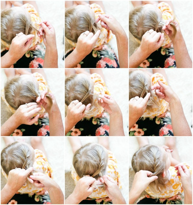 steps for braiding toddler hair