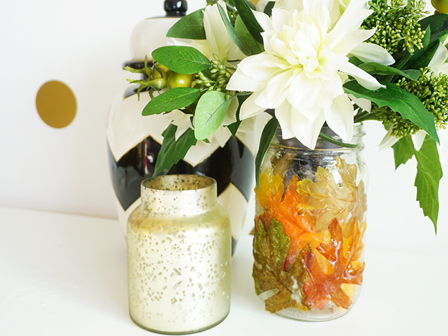 Diy mod podge mason jar vase for fall more fall diy projects solutioingenieria Image collections