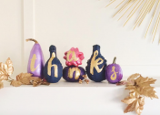 How to Make Gold Foil Typography Pumpkins for Thanksgiving