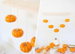 DIY Mini Pumpkin Chandelier