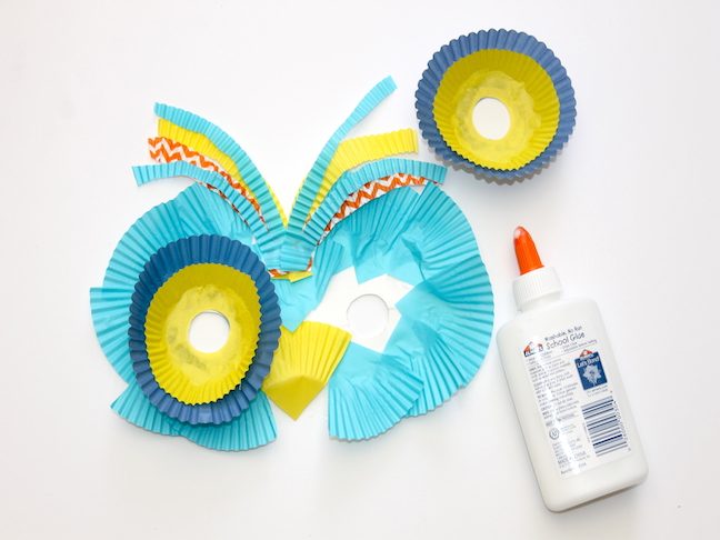 owl cupcake liners paper plate craft