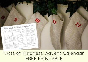 """The Ultimate """"Acts of Kindness"""" Advent Calendar [FREE PRINTABLE]"""