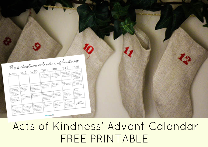 Ultimate Acts Of Kindness Advent Calendar Free Printable