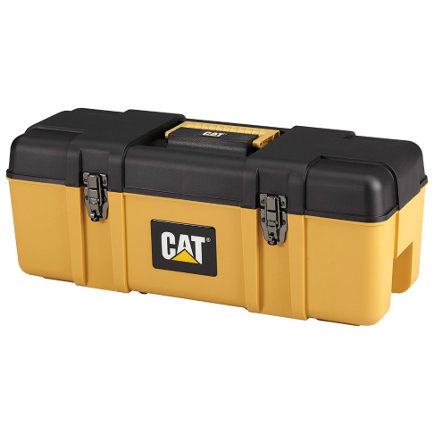 Cat yellow toolbox