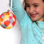 Make This Gorgeous 'Stained Glass' Ornament with Gift Wrap Scraps