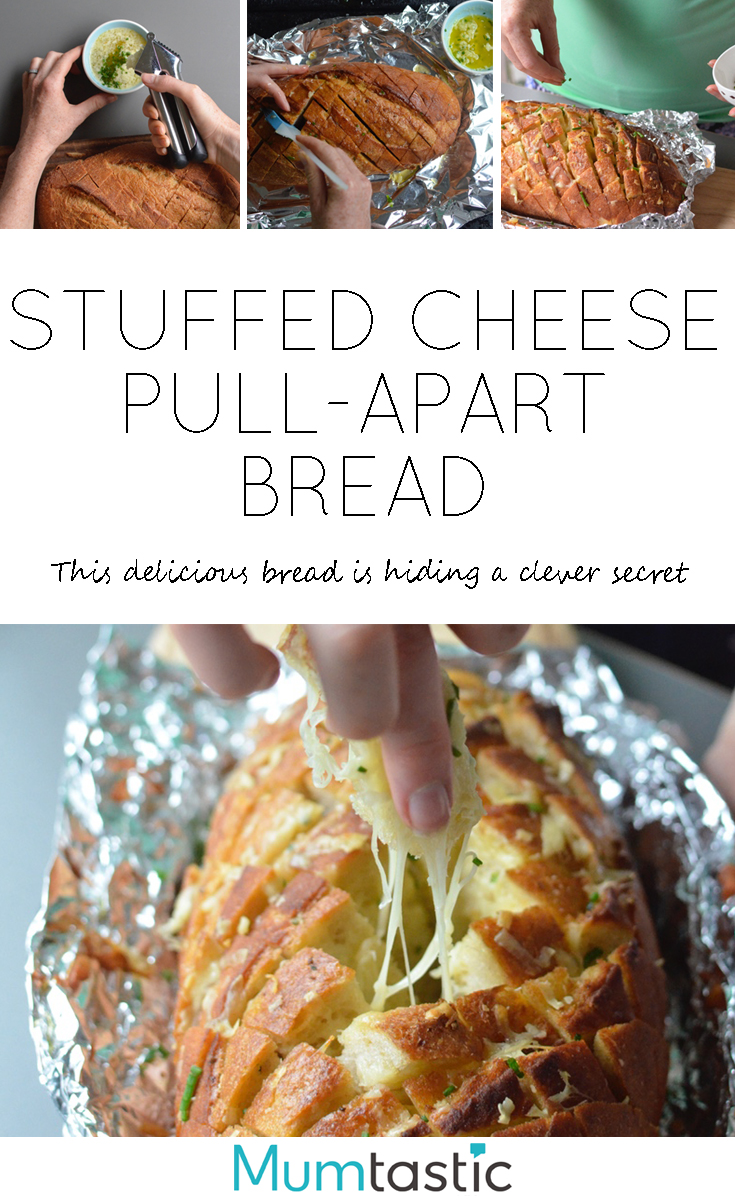 Stuffed Cheese Pull-Apart Bread Recipe