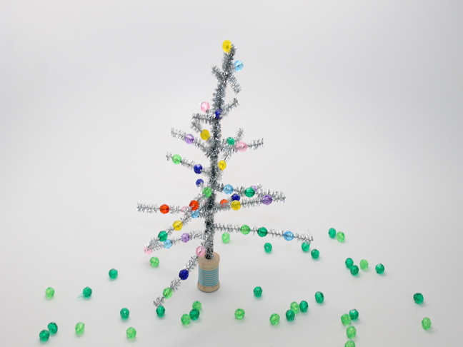 Retro Tinsel Tree Craft For Kids
