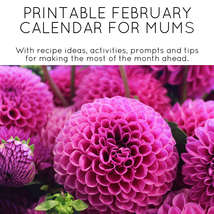 February 2017 Printable Calendar - with ideas for family activities, meal ideas and more