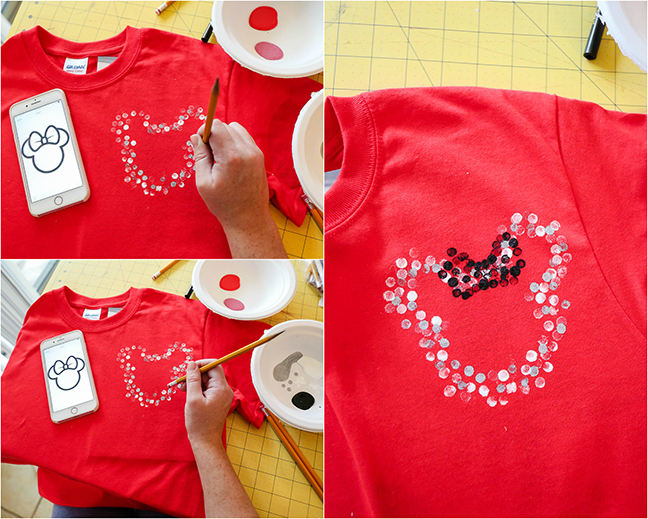 DIY Disney Tees For The Whole Family - Polka Dot Minnie Design