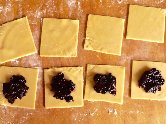 purple-blueberry jam-pastry squares