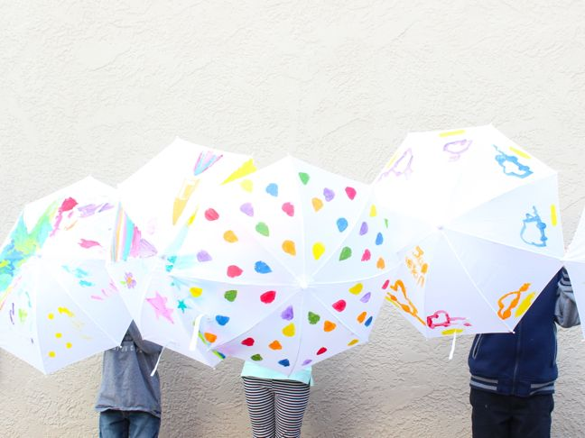 Birthday Party Activity DIY Painted Umbrellas
