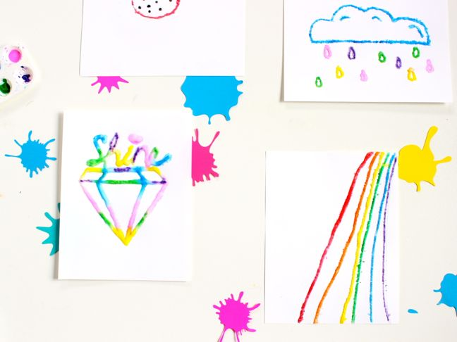colorful-kids-art-project-rainbow-diamond-shine-art