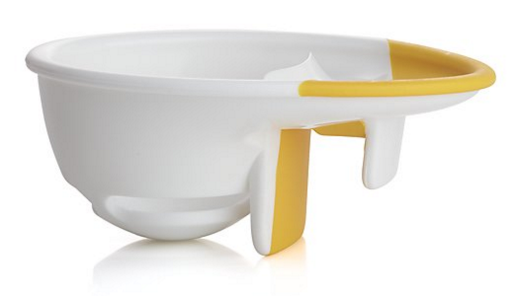 yellow and white egg separator