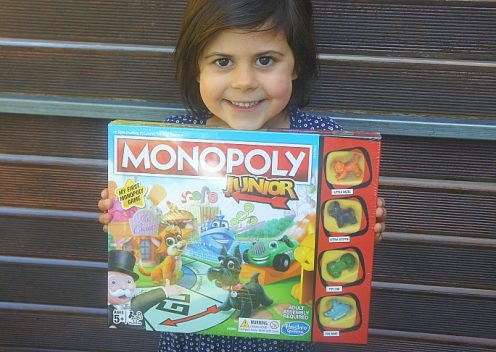 Learning and play with Hasbro Monopoly Junior