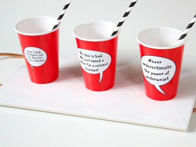 red-cups-with-captain-underpants-bubble-quotes