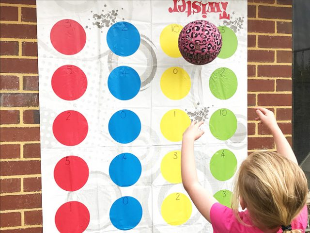 Math fact fun with Twister