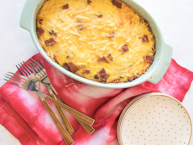 Bacon, Egg and Hashbrown Breakfast Casserole